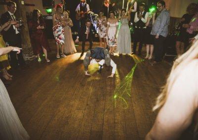 Kent wedding band winters barns break dancing