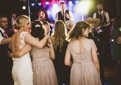 Kent Wedding Band dry ice