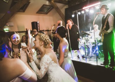 Kent wedding band winters barns band lights