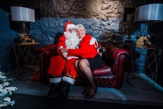 toastmaster with father Christmas