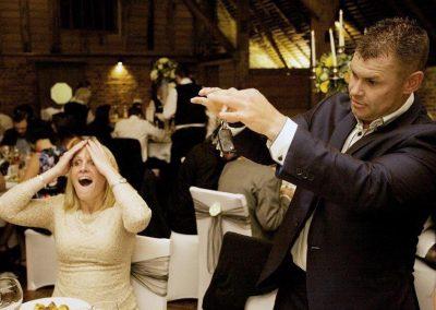 bride amazed at magician